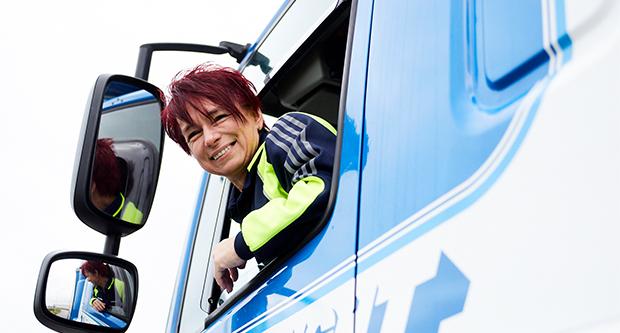 Diana (50) werd vrachtwagenchauffeur