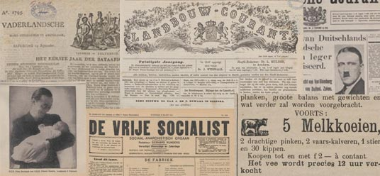 collage nieuwe kranten